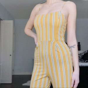Bright yellow jumpsuit perfect for summer!